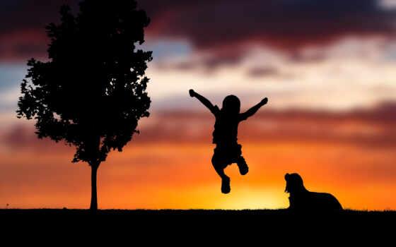 малыш, happy, ребенок, счастье, силуэт, everything,
