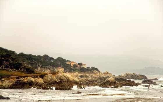 море, ultra, wide, природа, планшетный