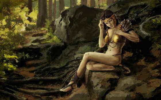 арт, девушка, амазонка