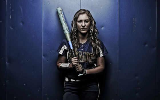 девушка, спорт, bat,