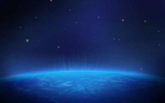 land, cosmos, planet, сияние, космоса, картинка,