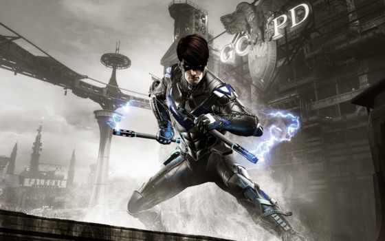batman, arkham, рыцарь, nightwing, игры, видеоигры, характер,
