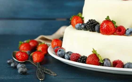 торт, десерт, еда, strawberries, мороженое, клубника, other, fruits,
