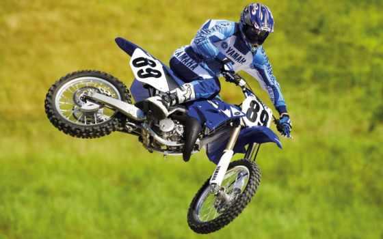 , мотоцикл, мотокрос, прыжок, ямаха,