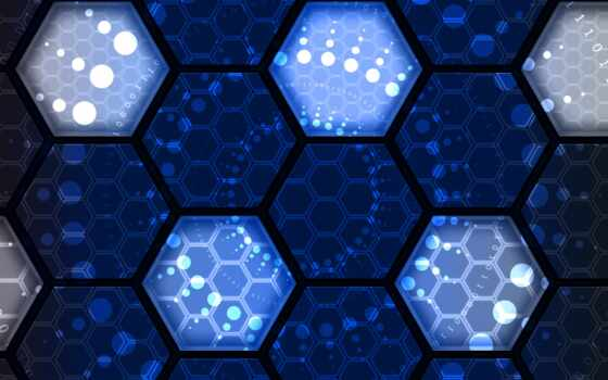сеть, technology, текстура, соты, рисунок, планшетный, ноутбук, компьютер, hexagon, blue