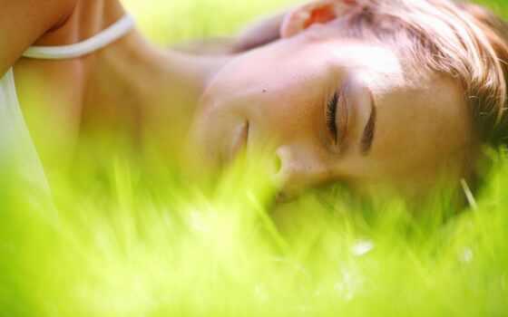 природа, лицо, спать, фото, девушка, трава, alpine, вектор, berush, красивый, sleepsoft