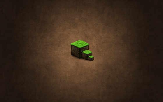 minecraft земля, фон, куб,
