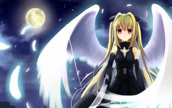 anime, angel, девушки