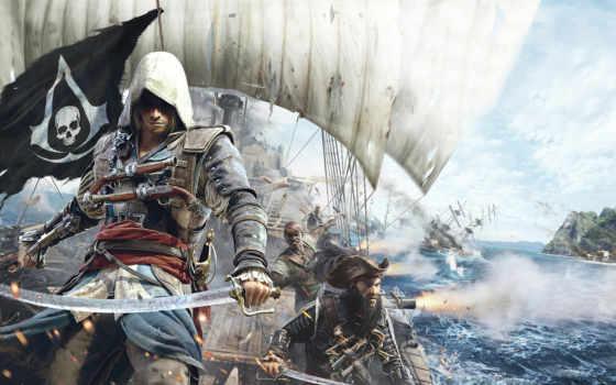 creed, assassin, флаг Фон № 118860 разрешение 1920x1080