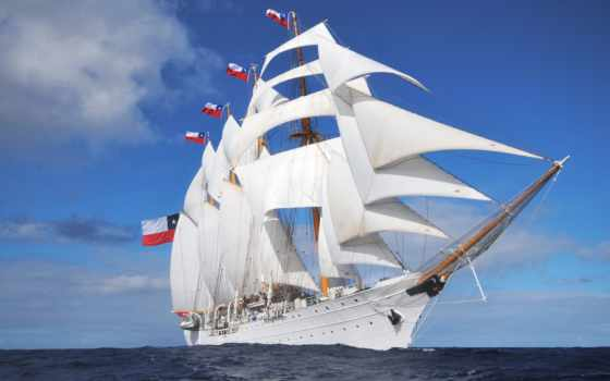 sailboat, море, природа