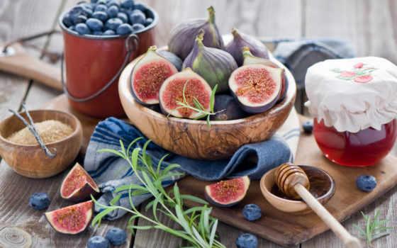 , инжир, фрукты, виноград, джем, черника, натюрморт,