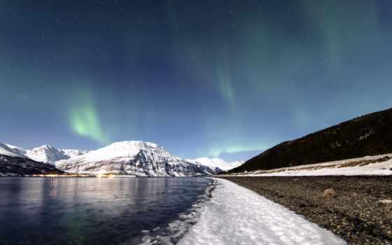 широкоформатные, природа, северное, сияние, winter, природы, summer,