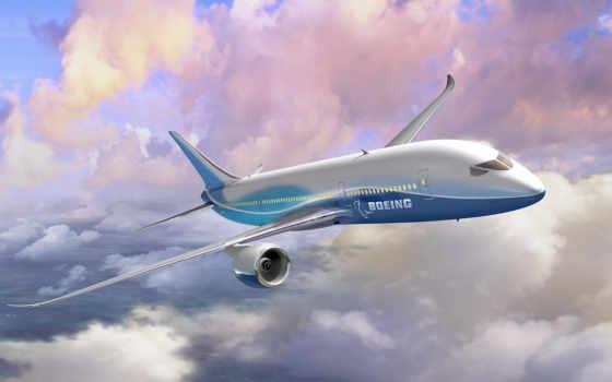 boeing, небо, самолёт, боинг, облака, dreamliner, картинка, авиабилеты, art,