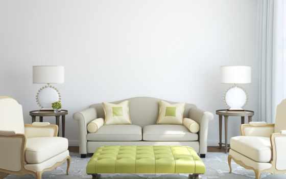светлая гостинная комната