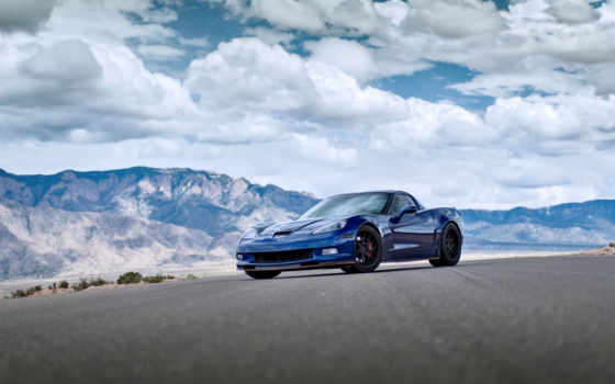 corvette, blue