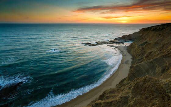 пляж, iphone, море