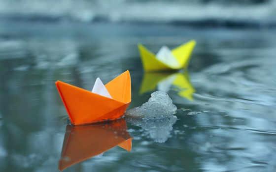 кораблики, кораблик, бумага