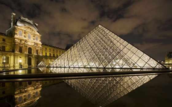 louvre, франция, париж, museum, самые, ночь, посещаемые,