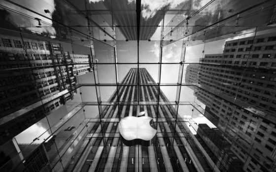 apple, чёрно, офис