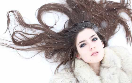 winter, снег, волосы, голова, снежинки, glass, brunette, женский, new,