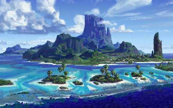 моана, остров, cartoon, disney, эскиз, текстуры, природа, декабрь,