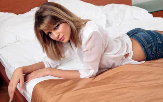 cheryl, cole, энн, bluejean, white, tweedy, красавица, кровать, рубашка