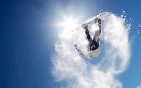спорт, картинка, кадр, момент, мнгновение, снег, сноуборд, зима, картинку, deniz, застыл, воздухе, голубое, сноубордист, фоне, так, сноубординг, çok, resim, браги, небо,