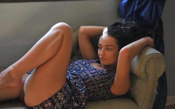диван, халат, старый, красотка, kayleigh, devushka, бедра,