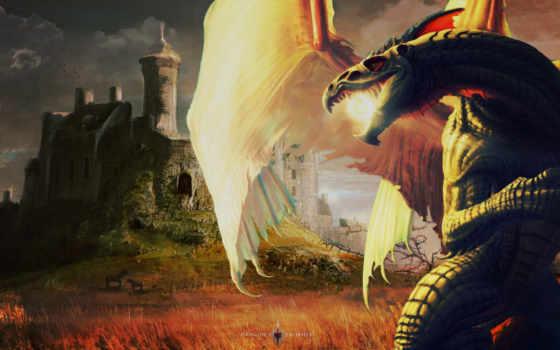 драконы, заставки, дракон