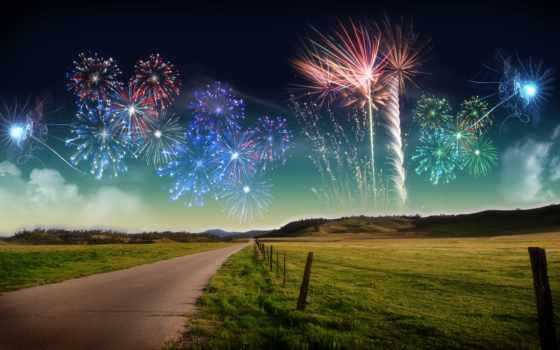 new, год, высокое, fireworks, качество, free,