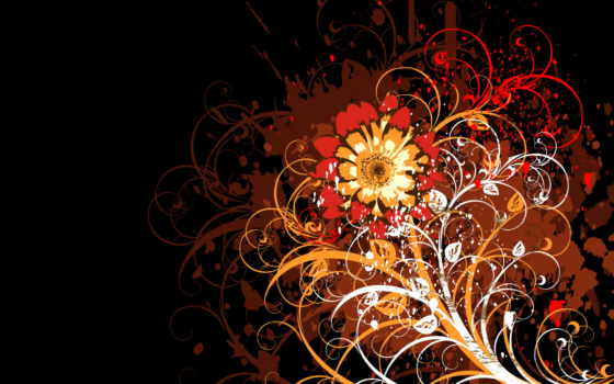 fone, pattern, черном, красивые, вектор, цветы, банка, узоры, daily,