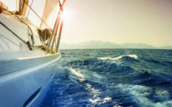 море, яхта, настроение, water, ветер, яхты, bay, sail, стоковое, waves, катера,