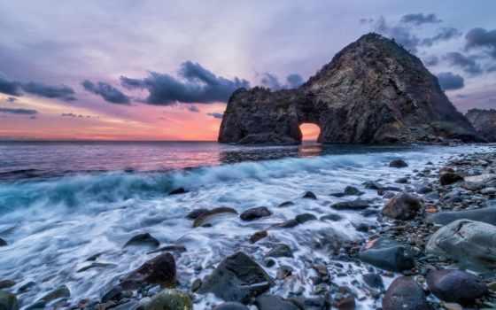море, берег, моря, фотообои, ocean, пляжи, берега, закат,