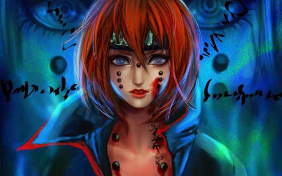 девушка, art, кровь