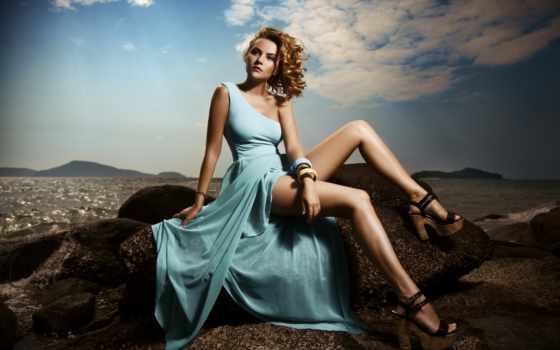 платье, море, туфли, камни, ножки, рисунок, девушкв, девушка, фотосессия, portrait,