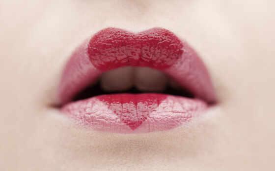 wallpaper, hd, love, картинку, картинка, red, with, губки, сердце, губы, помада, lips, makijaż, walentynki,