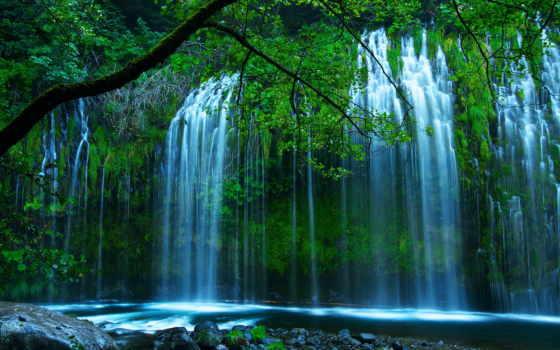 природа, водопад, разделе