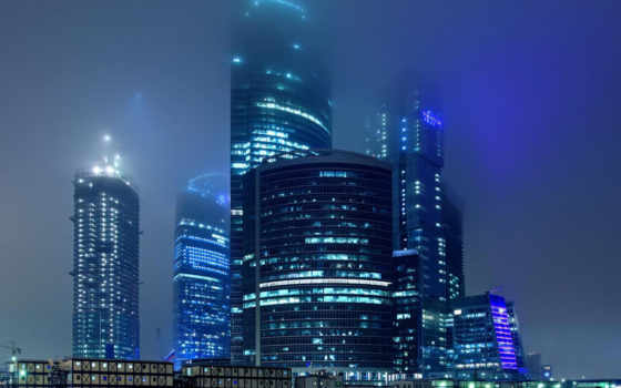 город, москва, ночь