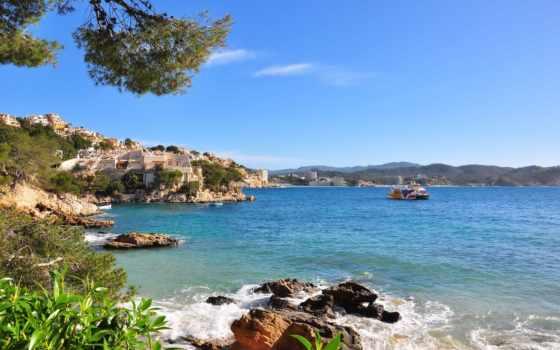 испания, море, побережье, природа, mallorca, испании,