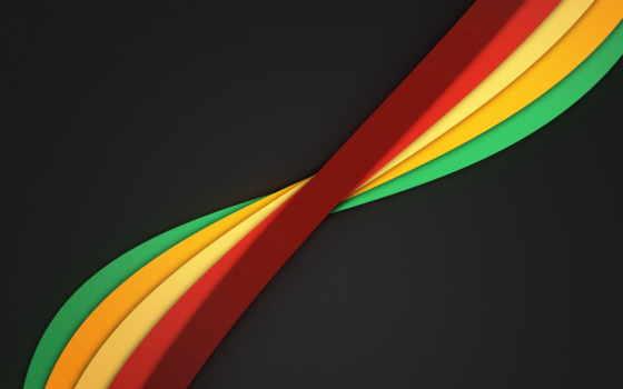 abstrakciya, линии, разноцветные, ленты,