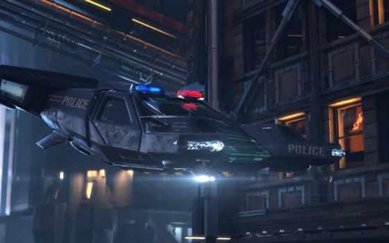 cyberpunk, police, trailer, ночь, город, game, шлем, будущее,