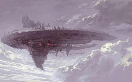 корабль, art, cosmic, транспорт, oblaka, небе, concept, космос, cosmos, корабли,