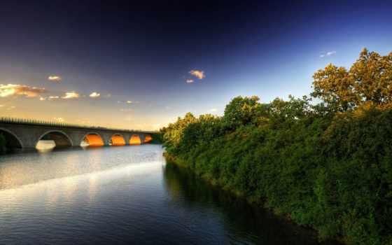 природа, full, nhiên, thiên, cánh, мост, phong, фоны, мосты,