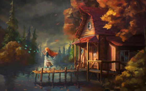 house, осень, fantasy, девушка, szheg, слегка, некогда, детство, нота, beginner, абонент