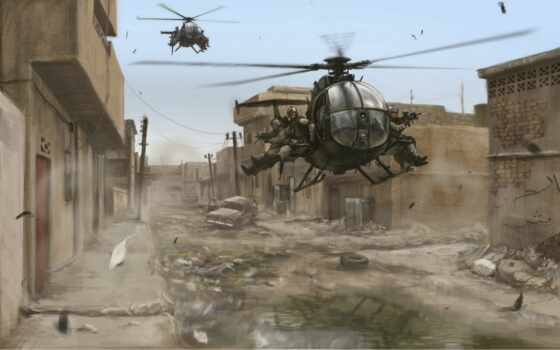 black, game, hawk, down, военный, вертолет, пасть