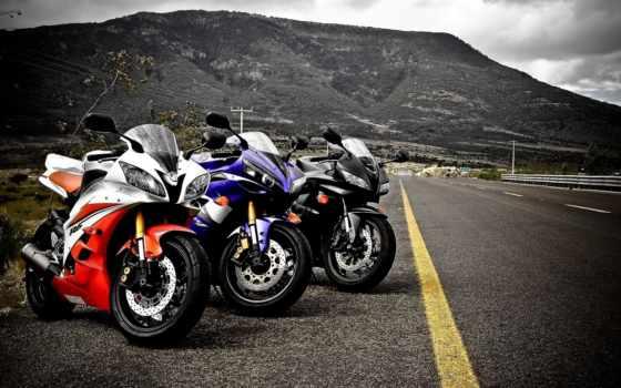 мотоциклы, дороге, скорость