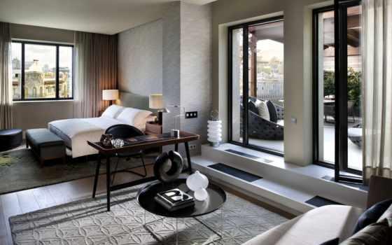 mandarin, барселона, oriental, hotel, спальня, интерьер, кровать, design,