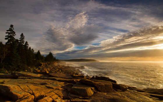 камни, волны, берег