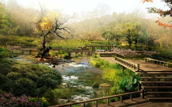 japanese, garden, природа, desktop, you, япония, are,