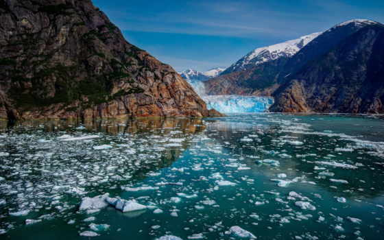 аляска, горы, природа, ледники, bay, сша, glacier, state, park,